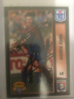 AU100 • Buy 1994 NSW Rugby League Series 2 Card No68 Signed By Andrew Johns Newcastle ROOKIE