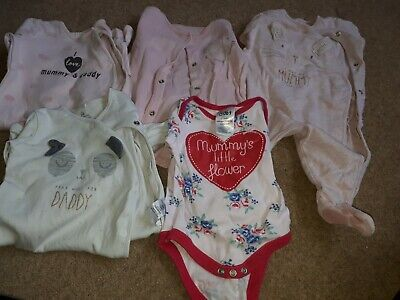I Love Mummy And Daddy Sleepsuit Bundle 0-3 Months Next F&F George  • 0.99£