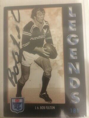 AU45 • Buy 1994 NSW Rugby League Series 1 Card No181 Hand Signed By Bob Fulton Manly.