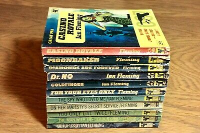 James Bond Pan Books Collection. 11 X Ian Fleming Bond Books. 1962-68 Printings • 19.95£