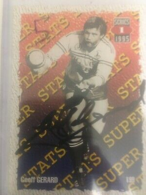 AU35 • Buy 1995 AUS Rugby League Series 1 Card No199 Hand Signed By Geoff Gerard.