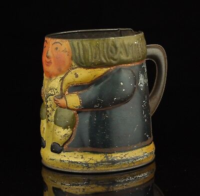 Antique Tin Box , Mug, Huntley & Palmers Biscuits London , Toby Jug • 126.63£