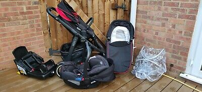 Graco Evo XT Travel System Pushchair Pram Car Seat Carrycot Includes Accessories • 160£