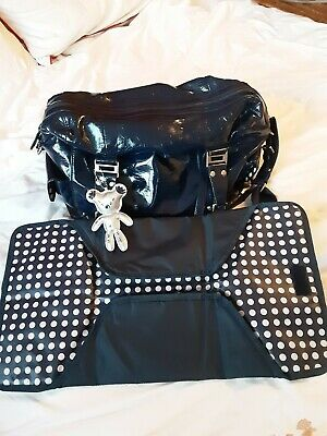 Il Tutto Navy Blue Changing Bag With Changing Mat • 5£