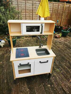 IKEA DUKTIG Play Kitchen With Pan Set And Utensils • 15£