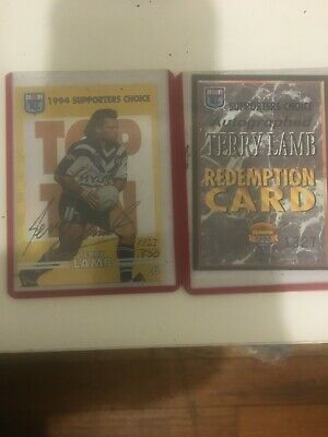 AU250 • Buy 1994 NSW Rugby League Supporters Choice Signature Card 6 Signed Terry Lamb 1327