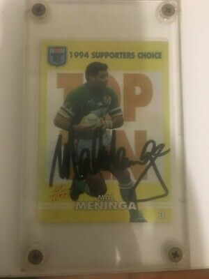 AU100 • Buy 1994 NSW Rugby League Supporters Choice Signature Card 3 Signed Mal Meninga 210