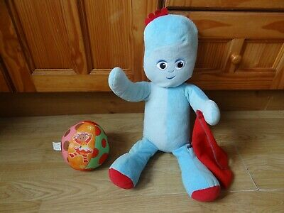 In The Night Garden Large IGGLE PIGGLE Soft Toy 16 Ins High + Soft Ball • 1.99£