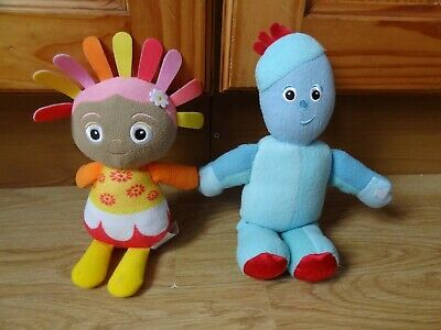 In The Night Garden IGGLE PIGGLE & UPSY DAISY Soft Toys 8 Ins High Max • 1.99£