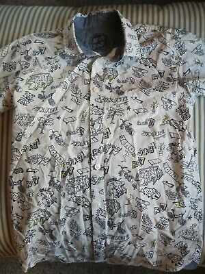 Blue Zoo Debenhams Patterned S/s White Shirt - Age 12 - Fantastic Condition • 1.59£