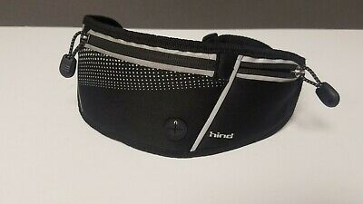 HIND Runners Belt Fanny Pack Black Reflective 3 Zipper Pckets • 3.54£