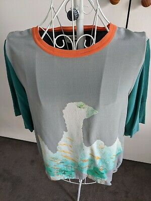 AU25 • Buy Gorman (Fred Fowler X Gorman) 100% Silk Top Size 10