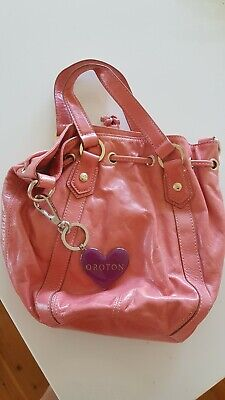 AU30.50 • Buy Oroton Pink Leather Handbag - Small