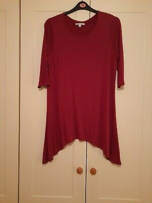 Ladies Berry Colour Longline Tunic Top Size 18 From Capsule - Only Worn Once • 1.99£