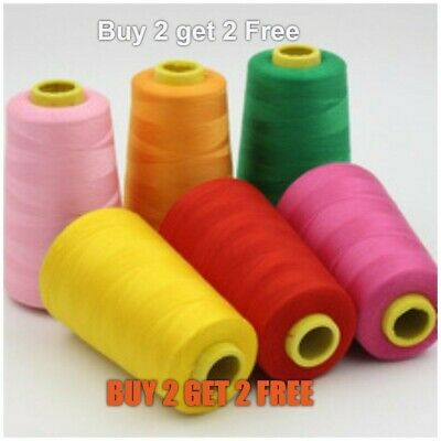 £4.70 • Buy  Overlocking Sewing Machine Industrial Polyester Thread 5000 Yards Cones