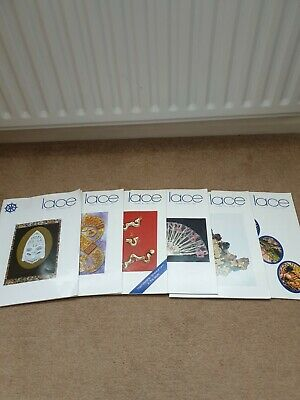 Set Of 6 Quarterly Magazines Of The Lace Guild, 92-97 • 6£