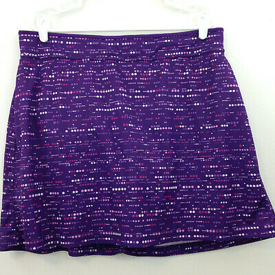Made For Life Skort Womens 1X Purple Polka Dots Athletic Shorts Skirt • 10.75£