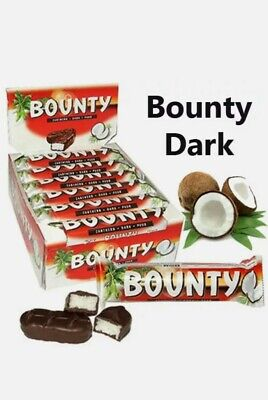 Bounty Dark Chocolate Twin Bar 57g X Pack Of  12/ 24 Bars Same Day Dispatch • 17.99£