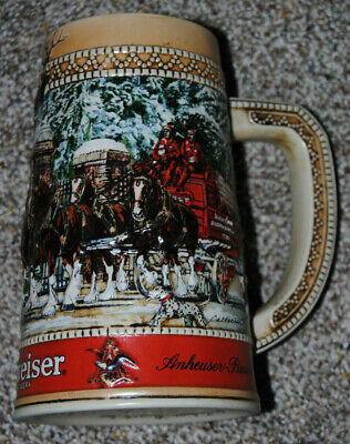 $ CDN11.17 • Buy Budweiser 1987 Holiday Series Stein Great Condition