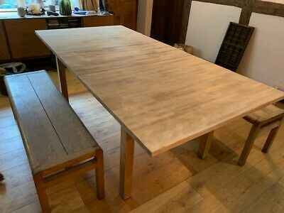 Kitchen Table Pine Extendable Ikea Used • 25£