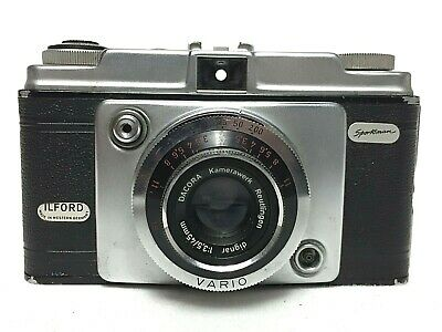 Vintage Ilford Sportsman MkI (c1957) 35mm Camera With Pouch Case West Germany • 10£