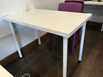 IKEA Linnmon Computer Desk Simple Design PC Laptop Table Home 100x60cm White • 10.50£