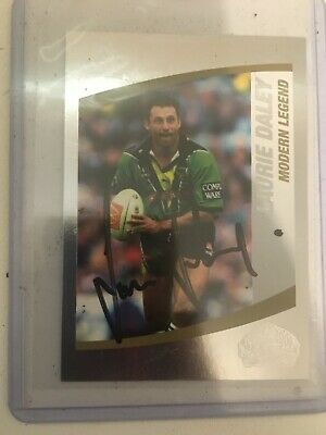 AU35 • Buy 2008 NAT Rugby League Modern Legend Card No214 Signed By Laurie Daley Canberra.