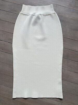AU150 • Buy Scanlan Theodore Crepe Knit Skirt Cream - Size Medium