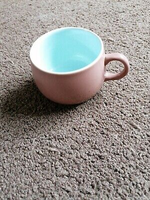 Langley Mill Pottery Twintone Cup Brown And Blue  • 1.50£
