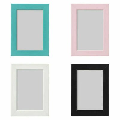 IKEA Fiskbo Photo Frame Picture Document Black Blue White Pink Red *6 SIZES* • 8.75£