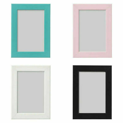 Ikea Fiskbo Photo A4 Frame Black White Pink Blue Red Hanging Standing Wall Mount • 4.95£