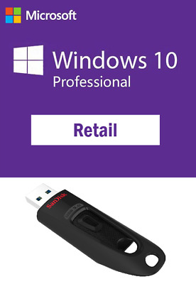 $ CDN117.93 • Buy Windows 10 Pro Professional Full Retail Version 64bit Bootable USB + License Key