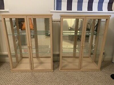 Pair Of Wall Mounted Ikea Glass Display Cabinets • 9.90£