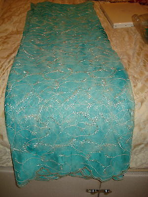 Chinese Net/lace Ladies Indian Saree With Matching Petticoat & Blouse • 149.99£
