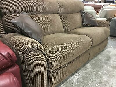 La-Z-Boy Brown Fabric Manual Reclining 3 Seater Sofa And Cuddle Chair • 1,699.99£