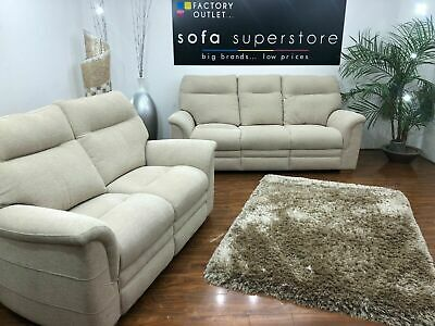 £1699.99 • Buy Parker Knoll Hudson Cream Fabric 3 Seater And 2 Seater Sofa Set