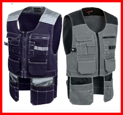 Electrician Tool Vest Workwear For Men Multi Pocket Quick Dry Windproof Safety • 38.99£