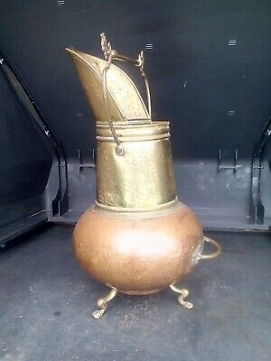 Antique/Vintage Copper Coal Scuttle/log Basket  • 88£