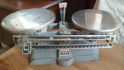 Vintage  Laboratory Apothecary Scales Balance  Made In U.S.A.. • 10£
