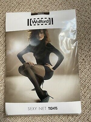 Wolford Womens Sexy Net Brown Tights Size Small / S • 7.10£