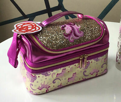 $ CDN33.50 • Buy Girls Smiggle Gold Unicorn Double Decker Sandwich Lunch Bag Box Strapped 🌈 FAB