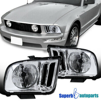 $72.98 • Buy For 2005-2009 Ford Mustang GT500 GT500KR Headlights Head Lamps Pair Left+Right