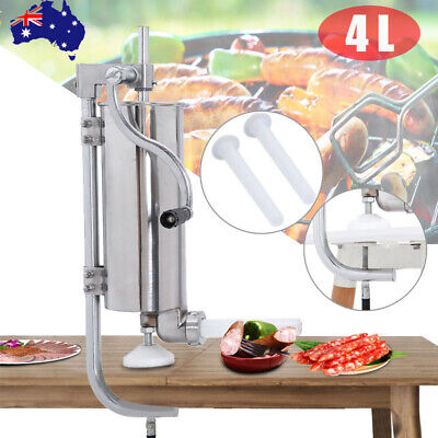 AU139.99 • Buy 7L Liters Salami Maker Standard Stainless Steel Meat Sausage Filler Stuffer SET