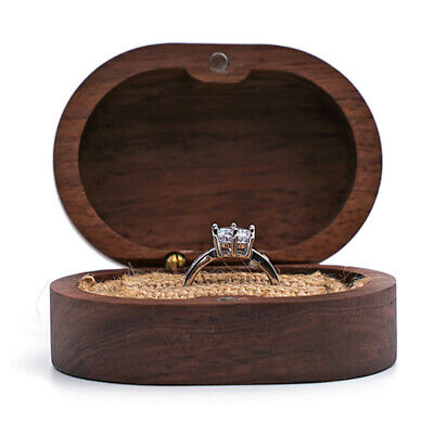 AU12.62 • Buy Wood Jewelry Ring Box Rustic Wedding Ring Holder Collection Display Gift