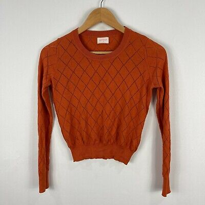 AU39.95 • Buy Gorman Womens Top 6 Orange Brown Long Sleeve Round Neck Silk Knit