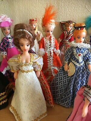 £90 • Buy Historical Dolls In Costume - 14 Dolls By Rexard - 1960's