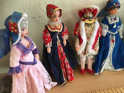 £65 • Buy Henry VIII ( X2) & 6 Wives - Historical Dolls In Costume By Rexard 1960's
