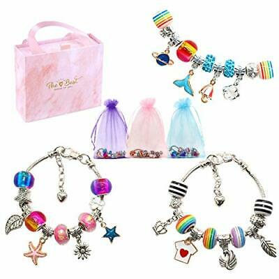 Charm Bracelets Making Kit For Girls, Arts And Crafts Gift Box Sets For • 17.99£