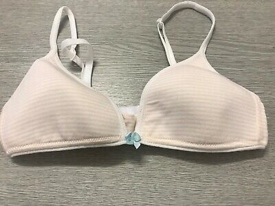 $8.33 • Buy M&S Pretty Starter Teen Bra Lightly Padded Non Wired Cotton Rich  New 30A