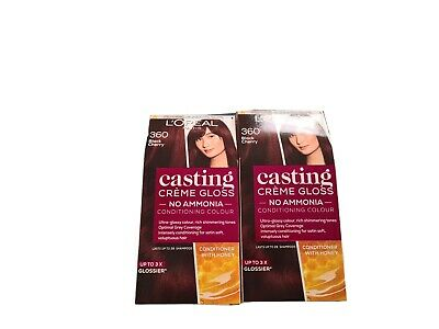 L'Oreal Casting Creme Gloss Black Cherry Semi Permanent Hair Colour X 2  • 1.40£